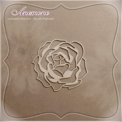 Wycinanka tekturowa - Anemone - Różyczka
