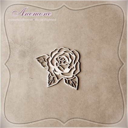 Chipboard - Anemone - Rose with leafs