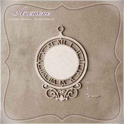"""Wycinanka tekturowa - Anemone - Zegar Nostalgia """"...jak rzeka..."""""""