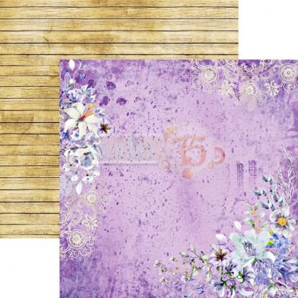 Scrapbooking paper - Studio 75 - Violet love 04