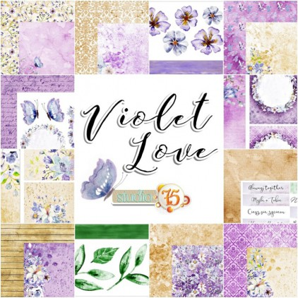 Set of scrapbooking papers - Studio 75 - Violet love