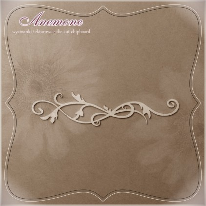"Wycinanka tekturowa - Anemone - Borderek ""Botanical"""