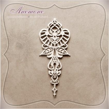 Wycinanka tekturowa - Anemone - Dekor 02 z tłem