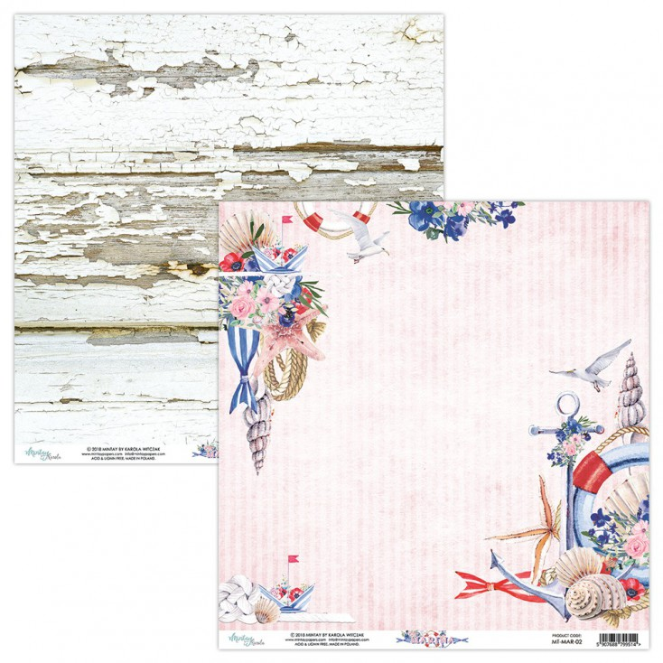 Scrapbooking paper - Mintay Papers - Marina 02