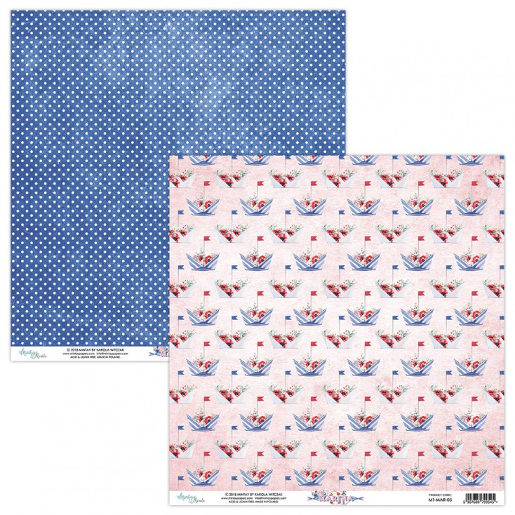 Scrapbooking paper - Mintay Papers - Marina 05