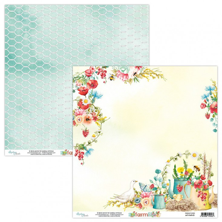 Scrapbooking paper - Mintay Papers - Farmlife 01
