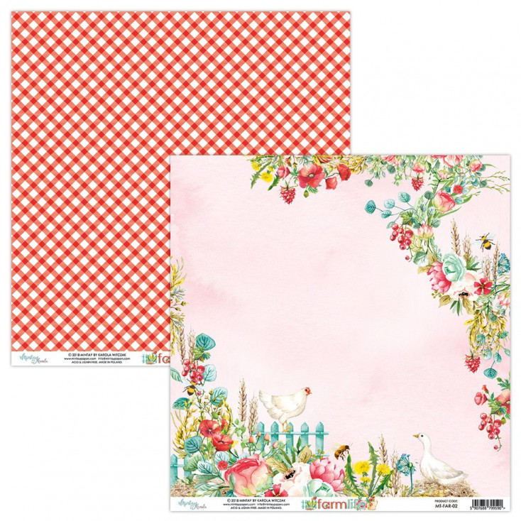 Scrapbooking paper - Mintay Papers - Farmlife 02