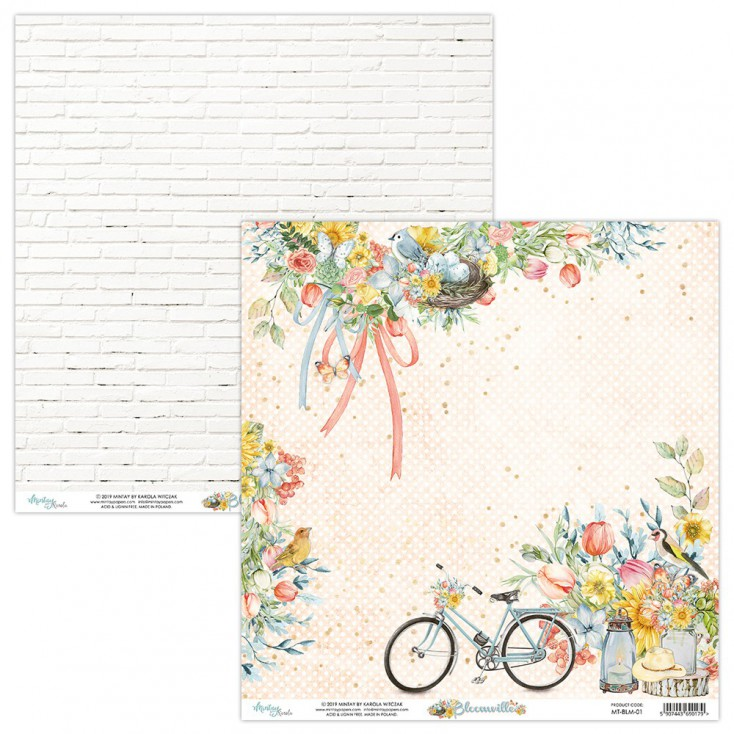 Scrapbooking paper - Mintay Papers - Bloomville 01