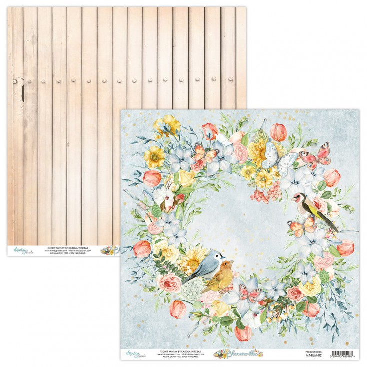 Scrapbooking paper - Mintay Papers - Bloomville 02