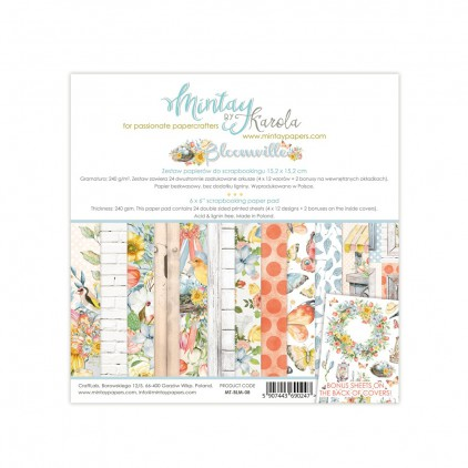 Scrapbooking paper pad - Mintay Papers - Bloomville
