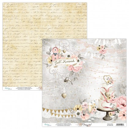 Scrapbooking paper - Mintay Papers - Marry me ! 02