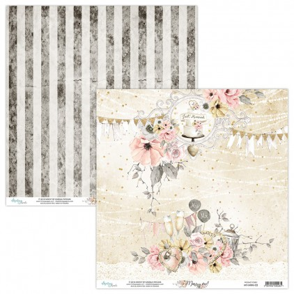 Scrapbooking paper - Mintay Papers - Marry me ! 03