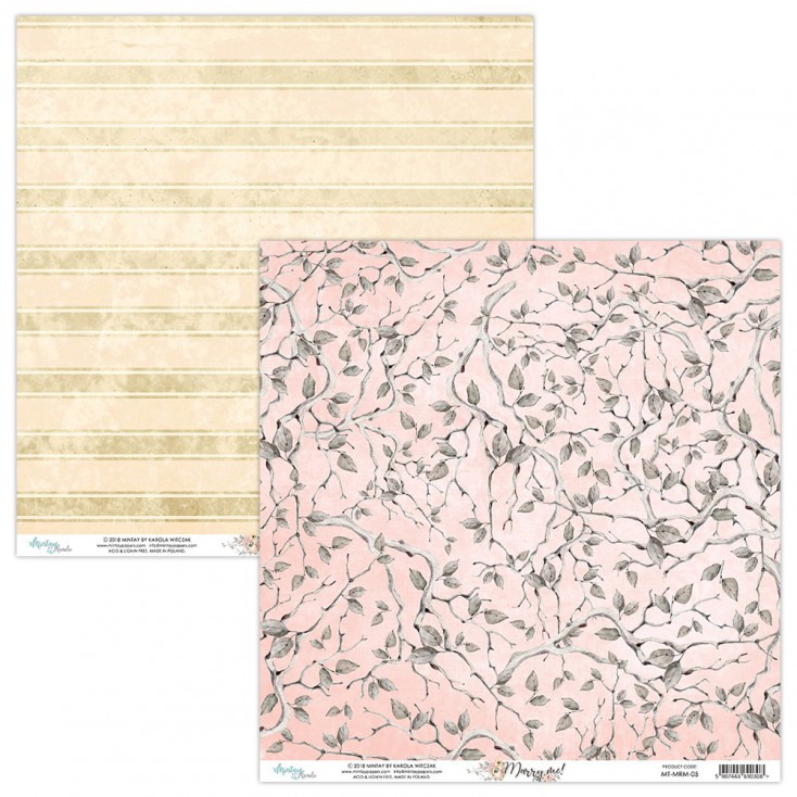 Scrapbooking paper - Mintay Papers - Marry me ! 05