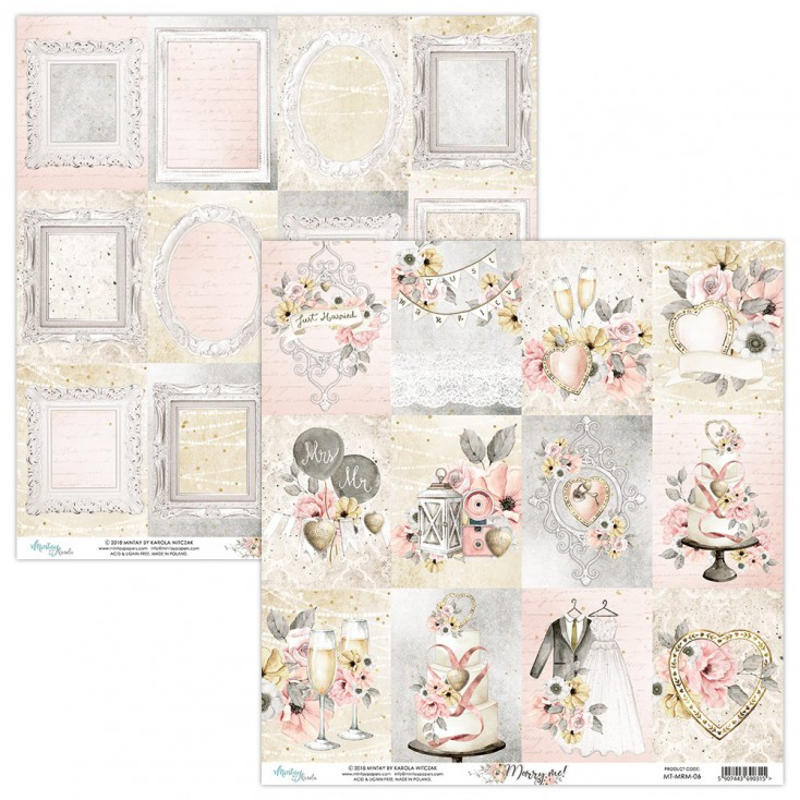Scrapbooking paper - Mintay Papers - Marry me ! 06