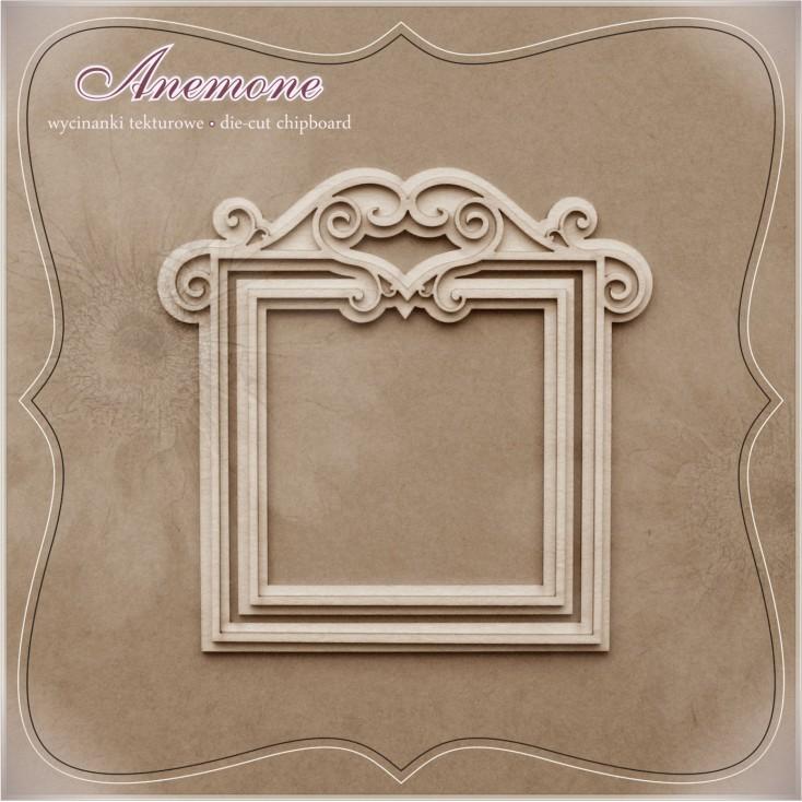 "Chipboard - Anemone - Frame ""Barok"""