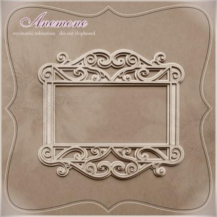Wycinanka tekturowa - Anemone - Ramka albumowa 2d