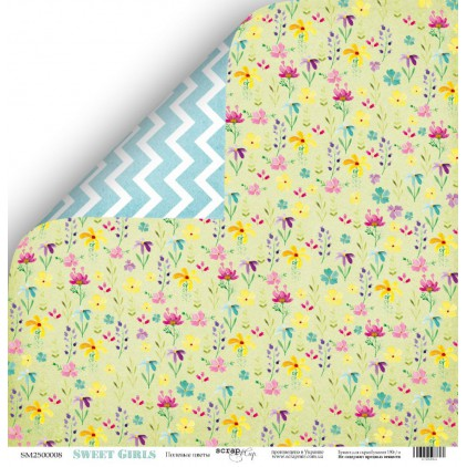 Scrapbooking paper - Scrap Mir - Sweet Girls - Wildflowers