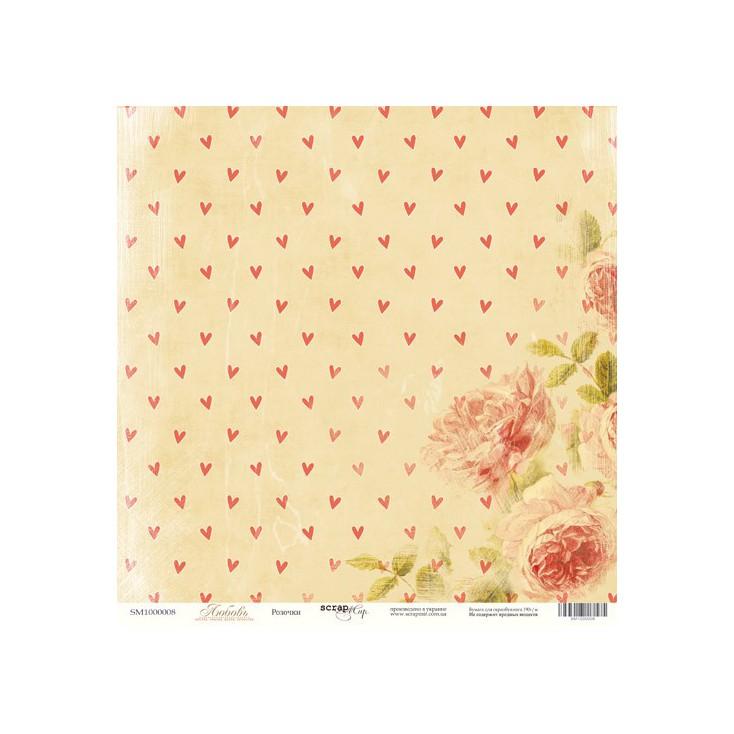Scrapbooking paper - Scrap Mir - Love - Roses