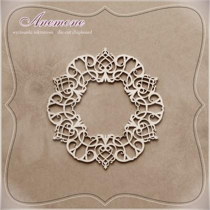 Wycinanka tekturowa - Anemone - Serwetka Fantazja 03