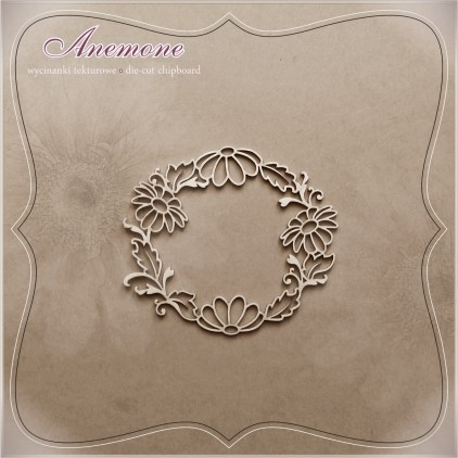"Chipboard - Anemone - Alleluia ""Wreath Margaretka"""