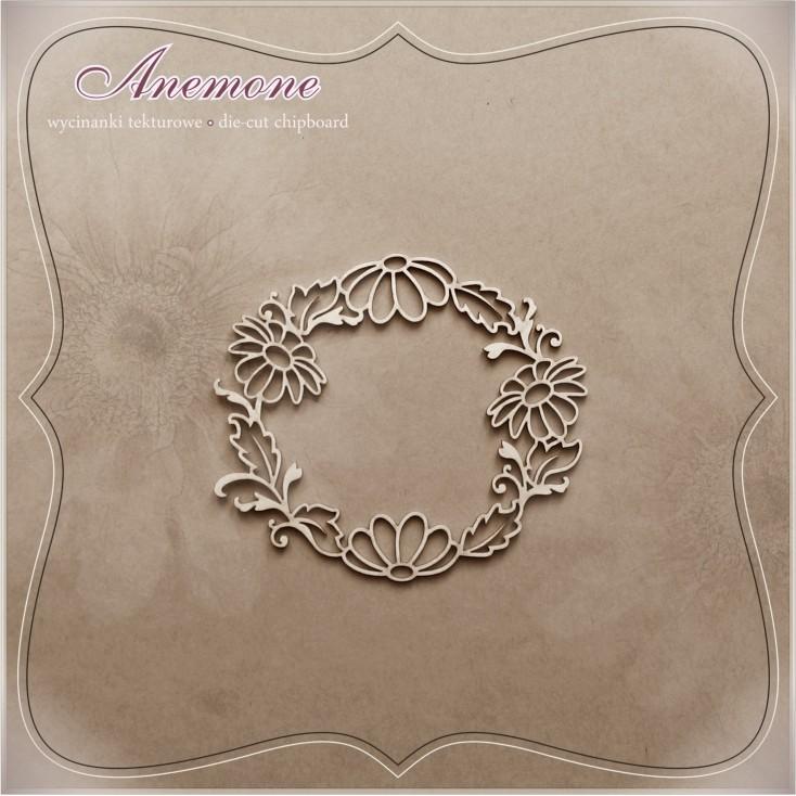 "Chipboard - Anemone - Alleluia ""Wreath Margaretka"""