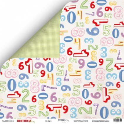 Papier do tworzenia kartek i scrapbookingu - Scrap Mir - Birthday Party - Numbers