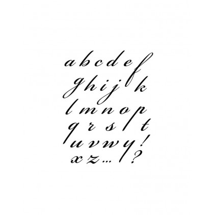 Stemple / pieczątki kauczukowe- Stamperia - Alfabet 01