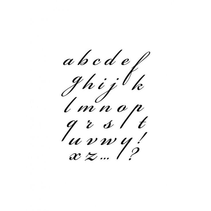 Stemple / pieczątki silikonowe - Stamperia - Alfabet 01