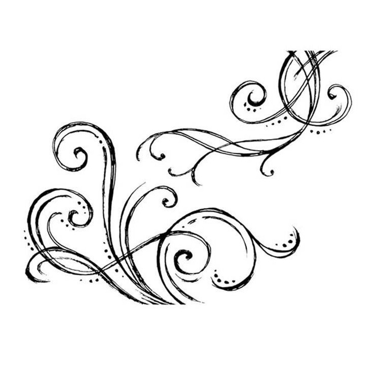 Set of clear stamps - Stamperia - Spiral