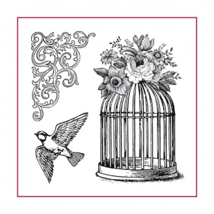 Stemple / pieczątki kauczukowe- Stamperia - Cage