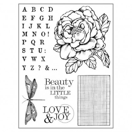 Set of clear stamps - Stamperia - Peony