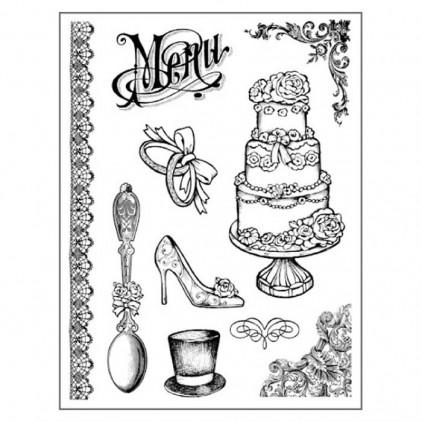 Stemple / pieczątki kauczukowe- Stamperia - Wedding