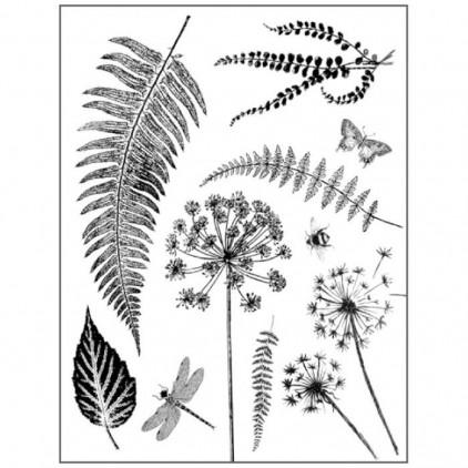 Stemple / pieczątki kauczukowe- Stamperia- Leaves