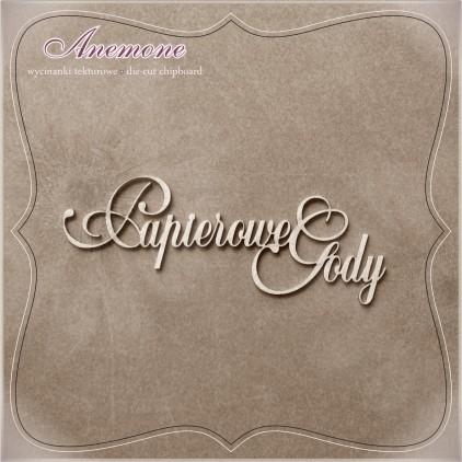 Chipboard - Anemone -Papierowe Gody (1 rocznica ślubu)