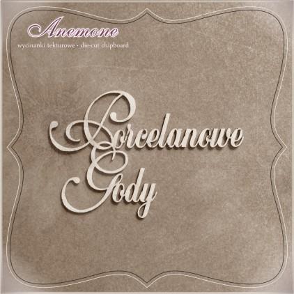 Chipboard - Anemone -Porcelanowe Gody (20 rocznica ślubu)