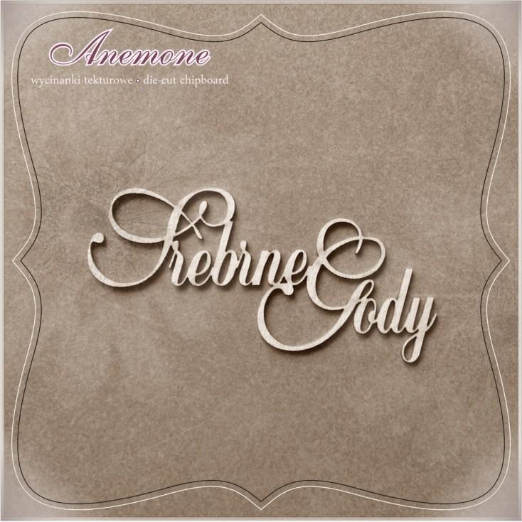 Wycinanka tekturowa - Anemone -Srebrne Gody (25 rocznica ślubu)