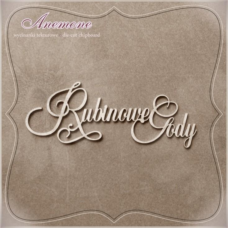Wycinanka tekturowa - Anemone - Rubinowe Gody (40 rocznica ślubu)