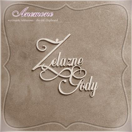 Chipboard - Anemone - Żelazne Gody (65 rocznica ślubu)