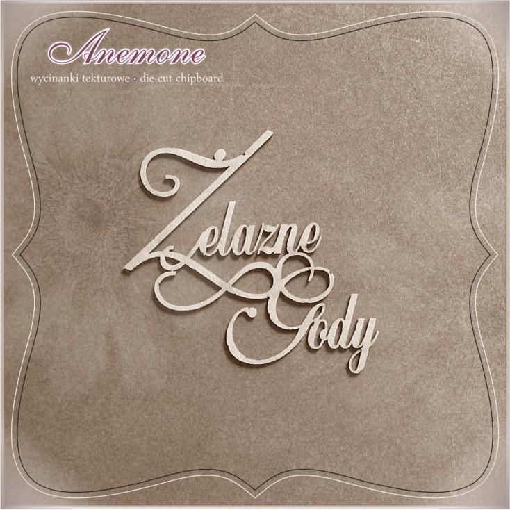 Wycinanka tekturowa - Anemone - Żelazne Gody (65 rocznica ślubu)