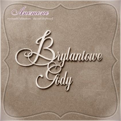 Wycinanka tekturowa - Anemone - Brylantowe Gody (75 rocznica ślubu)