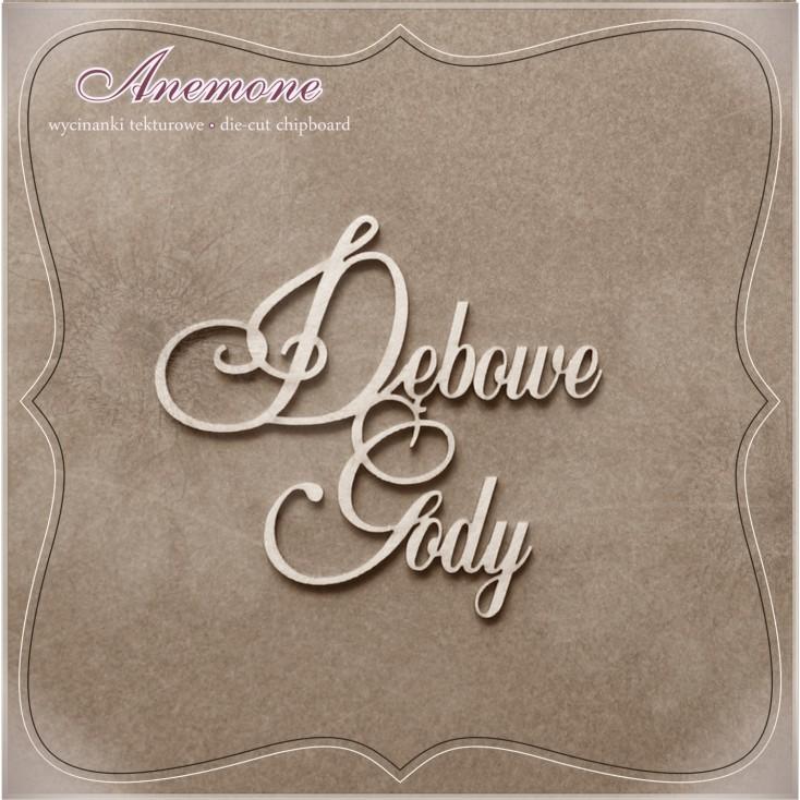 Wycinanka tekturowa - Anemone - Dębowe Gody (80 rocznica ślubu)