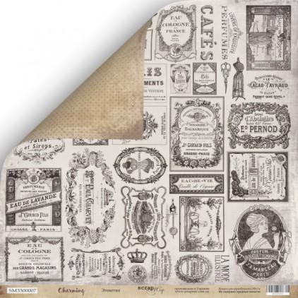 Scrapbooking paper - Scrap Mir - Charming - Labels