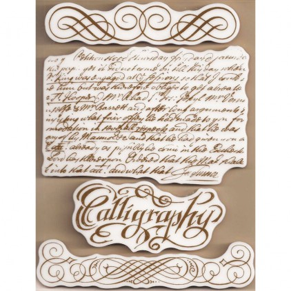 Set of clear stamps - Stamperia - Caligraphy