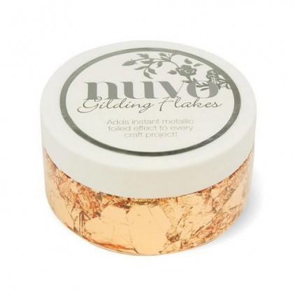 Metallic foil in flakes, gilding flakes- Nuvo- sunkissed copper- 200 ml