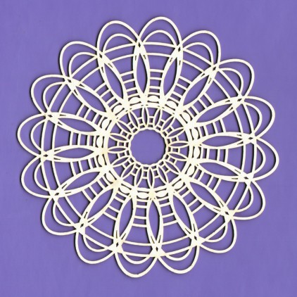 Cardboard element -Large lace 3 - Crafty Moly
