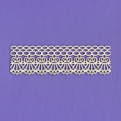 Cardboard element - Border lace Bridelle - Crafty Moly