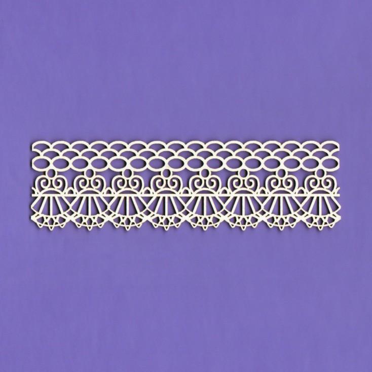 Cardboard element - Border lace Bridelle - Crafty Moly