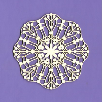 Cardboard element - Winter collection - Snowflakes large 3- Crafty Moly
