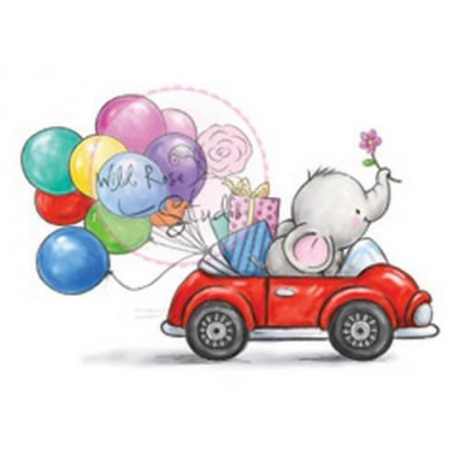 Set of clear stamps - Wild Rose Studio - Bella in car CL449