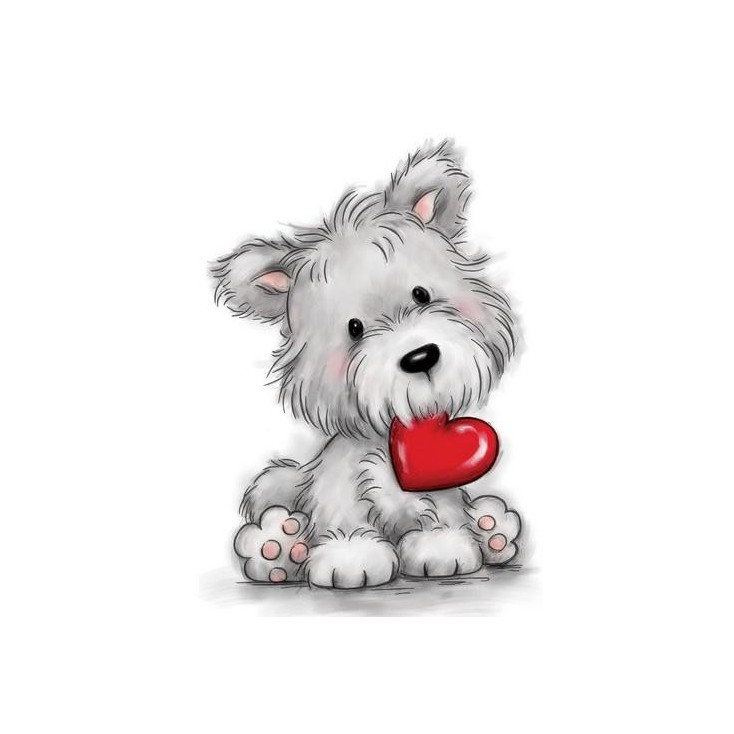 Stemple / pieczątki - Wild Rose Studio - Dog with Heart CL503